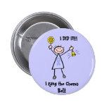 Chemo Bell - Lavender Ribbon Female Button