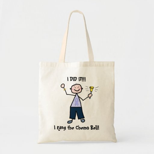 Chemo Bell - Lavender Ribbon Male Canvas Bag
