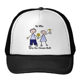 Chemo Bell - Lavender Ribbon Woman Mesh Hat