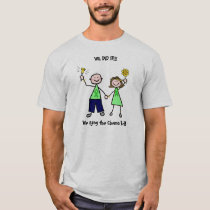 Chemo Bell - Liver Cancer Green Ribbon Man T-Shirt
