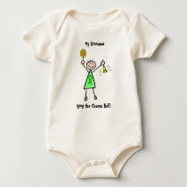 Chemo Bell - Liver Cancer Green Ribbon Woman Baby Bodysuit