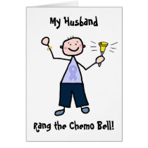 Chemo Bell Man - Periwinkle Ribbon Stomach Cancer