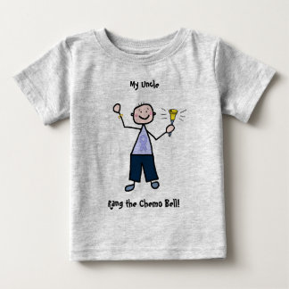 Chemo Bell Man - Periwinkle Ribbon Stomach Cancer Baby T-Shirt