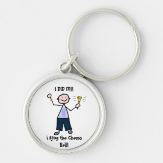 Chemo Bell Man - Periwinkle Ribbon Stomach Cancer Keychains