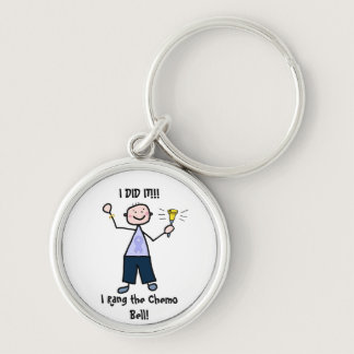 Chemo Bell Man - Periwinkle Ribbon Stomach Cancer Keychain