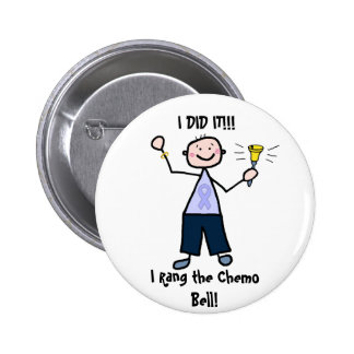 Chemo Bell Man - Periwinkle Ribbon Stomach Cancer Pinback Button