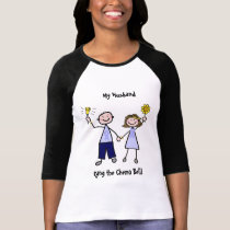 Chemo Bell Man - Periwinkle Ribbon Stomach Cancer T-Shirt