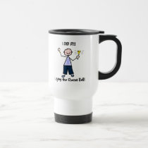 Chemo Bell Man - Periwinkle Ribbon Stomach Cancer Travel Mug