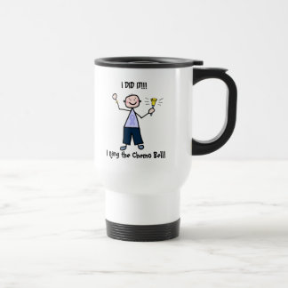 Chemo Bell Man - Periwinkle Ribbon Stomach Cancer Travel Mug