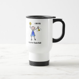 Chemo Bell - mujer de Blue Ribbon Tazas De Café