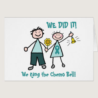 Chemo Bell - Ovarian Cancer Teal Ribbon Card