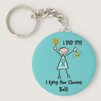 Chemo Bell - Ovarian Cancer Teal Ribbon Keychain