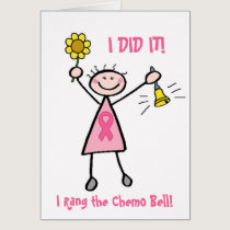 Chemo Bell - Pink Ribbon Breast Cancer Card