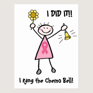 Chemo Bell - Pink Ribbon Breast Cancer Postcard