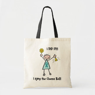 Chemo Bell - Teal Ribbon Canvas Bag