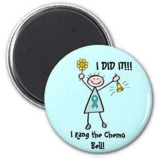 Chemo Bell - Teal Ribbon Fridge Magnet