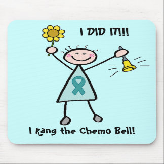 Chemo Bell - Teal Ribbon Mousepads