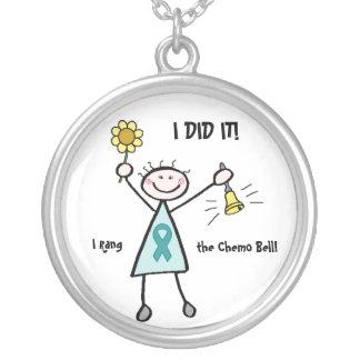 Chemo Bell - Teal Ribbon Custom Jewelry