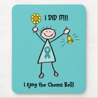 Chemo Bell - Uterine Cancer Teal Ribbon Mouse Pad