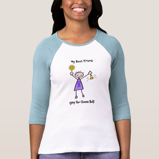 Chemo Bell - Violet Ribbon Lymphoma Woman T-Shirt