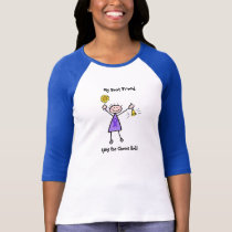 Chemo Bell - Violet Ribbon Lymphoma Woman T-Shirt