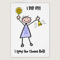 Chemo Bell - Woman General Cancer Card
