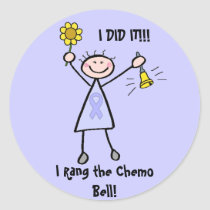 Chemo Bell - Woman General Cancer Classic Round Sticker