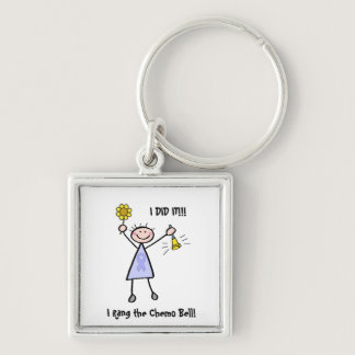 Chemo Bell - Woman General Cancer Keychain