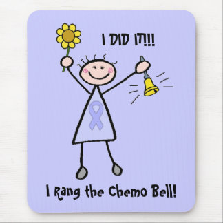 Chemo Bell - Woman General Cancer Mouse Pad