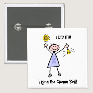 Chemo Bell - Woman General Cancer Pinback Button