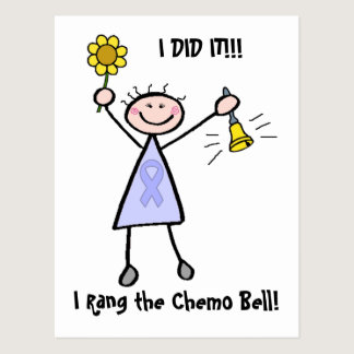 Chemo Bell - Woman General Cancer Postcard
