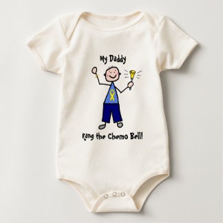 Chemo Bell - Yellow Ribbon Testicular Cancer Baby Bodysuit