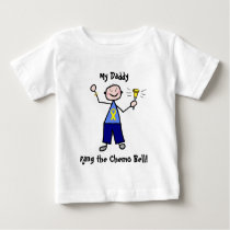 Chemo Bell - Yellow Ribbon Testicular Cancer Baby T-Shirt