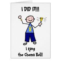 Chemo Bell - Yellow Ribbon Testicular Cancer Card