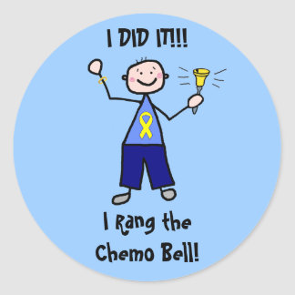 Chemo Bell - Yellow Ribbon Testicular Cancer Classic Round Sticker
