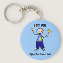 Chemo Bell - Yellow Ribbon Testicular Cancer Keychain