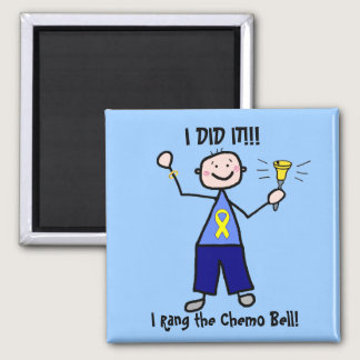 Chemo Bell - Yellow Ribbon Testicular Cancer Magnet