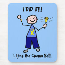Chemo Bell - Yellow Ribbon Testicular Cancer Mouse Pad