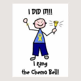 Chemo Bell - Yellow Ribbon Testicular Cancer Postcard