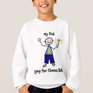 Chemo Bell - Yellow Ribbon Testicular Cancer Sweatshirt