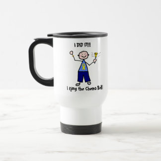 Chemo Bell - Yellow Ribbon Testicular Cancer Travel Mug