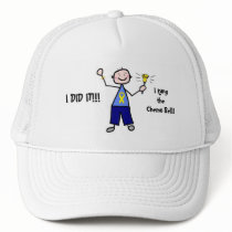 Chemo Bell - Yellow Ribbon Testicular Cancer Trucker Hat