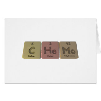 Chemo-C-He-Mo-Carbon-Helium-Molybdenum.png Greeting Card