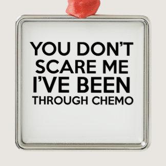 chemo cancer metal ornament
