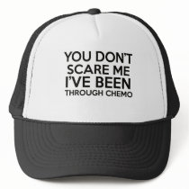 chemo cancer trucker hat