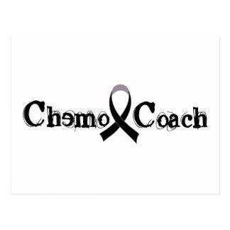 Chemo Coach - Black Ribbon Postcard