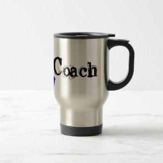 Chemo Coach - Blue Ribbon 15 Oz Stainless Steel Travel Mug