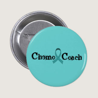 Chemo Coach - Cervical Cancer Pinback Button