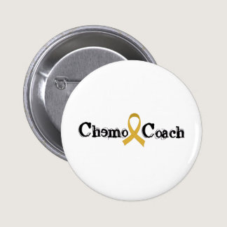Chemo Coach - Childhood Cancer Gold Ribbon Button