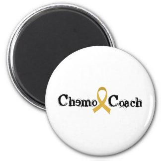Chemo Coach - Childhood Cancer Gold Ribbon Magnet